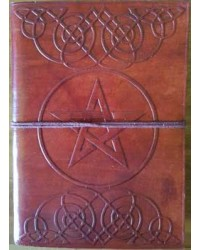 Celtic Heart Pentagram Leather 7 Inch Journal Mystic Convergence Metaphysical Supplies Metaphysical Supplies, Pagan Jewelry, Witchcraft Supply, New Age Spiritual Store