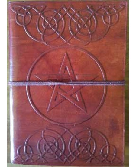 Celtic Heart Pentagram Leather 7 Inch Journal at Mystic Convergence Metaphysical Supplies, Metaphysical Supplies, Pagan Jewelry, Witchcraft Supply, New Age Spiritual Store