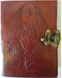 Moon Goddess 7 Inch Leather Journal with Latch Mystic Convergence Metaphysical Supplies Metaphysical Supplies, Pagan Jewelry, Witchcraft Supply, New Age Spiritual Store