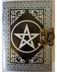 Pentacle Black and Silver Book of Shadows Journal with Latch Mystic Convergence Metaphysical Supplies Metaphysical Supplies, Pagan Jewelry, Witchcraft Supply, New Age Spiritual Store