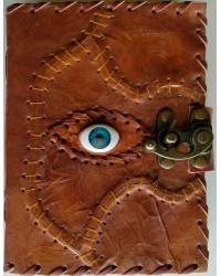 All Knowing Eye Stitched Leather Journal with Latch Mystic Convergence Metaphysical Supplies Metaphysical Supplies, Pagan Jewelry, Witchcraft Supply, New Age Spiritual Store