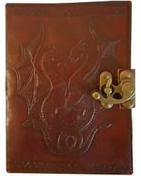 Double Dragon Leather Journal with Latch Mystic Convergence Metaphysical Supplies Metaphysical Supplies, Pagan Jewelry, Witchcraft Supply, New Age Spiritual Store