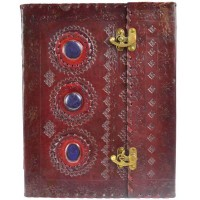 3 Stone Leather Blank Book with Latch - 10 x 13