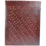 3 Stone Leather Blank Book with Latch - 10 x 13 at Mystic Convergence, Wiccan Supplies, Pagan Jewelry, Witchcraft Supplies, New Age Store