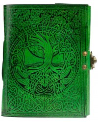 Green Tree of Life River of Knowledge Leather Journal Mystic Convergence Metaphysical Supplies Metaphysical Supplies, Pagan Jewelry, Witchcraft Supply, New Age Spiritual Store