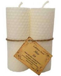 White Beeswax Altar Candle Set