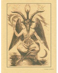 Baphomet Parchment Poster Mystic Convergence Metaphysical Supplies Metaphysical Supplies, Pagan Jewelry, Witchcraft Supply, New Age Spiritual Store
