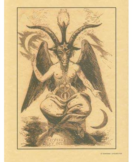 Baphomet Parchment Poster at Mystic Convergence Metaphysical Supplies, Metaphysical Supplies, Pagan Jewelry, Witchcraft Supply, New Age Spiritual Store