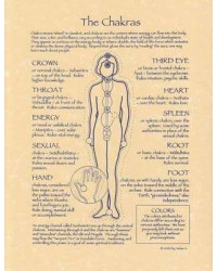 Chakras Reference Parchment Poster Mystic Convergence Wiccan Supplies, Pagan Jewelry, Witchcraft Supplies, New Age Store