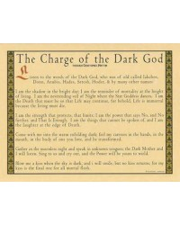 Charge of the Dark God Parchment Poster Mystic Convergence Metaphysical Supplies Metaphysical Supplies, Pagan Jewelry, Witchcraft Supply, New Age Spiritual Store