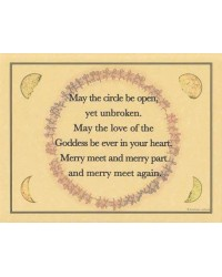 Circle Blessing Parchment Poster Mystic Convergence Metaphysical Supplies Metaphysical Supplies, Pagan Jewelry, Witchcraft Supply, New Age Spiritual Store