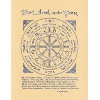 The Wheel of the Year Parchment Poster