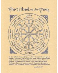 The Wheel of the Year Parchment Poster Mystic Convergence Wiccan Supplies, Pagan Jewelry, Witchcraft Supplies, New Age Store