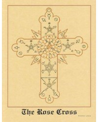 The Rose Cross Hermetic Parchment Poster Mystic Convergence Wiccan Supplies, Pagan Jewelry, Witchcraft Supplies, New Age Store