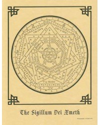 Sigillum Dei Aemeth Parchment Poster Mystic Convergence Wiccan Supplies, Pagan Jewelry, Witchcraft Supplies, New Age Store