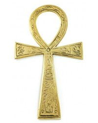Ankh - Large Brass Egyptian Ankh 6.5 Inches Mystic Convergence Metaphysical Supplies Metaphysical Supplies, Pagan Jewelry, Witchcraft Supply, New Age Spiritual Store