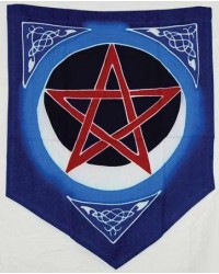 Pentacle Moon Pennant Mystic Convergence Metaphysical Supplies Metaphysical Supplies, Pagan Jewelry, Witchcraft Supply, New Age Spiritual Store