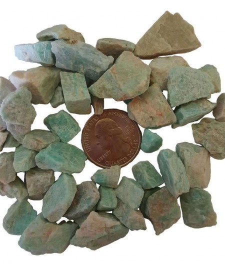 Amazonite Raw Untumbled Stones - 1 Pound Pack at Mystic Convergence Metaphysical Supplies, Metaphysical Supplies, Pagan Jewelry, Witchcraft Supply, New Age Spiritual Store