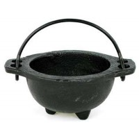 Cast Iron 3 Inch Wide Mouth Mini Cauldron
