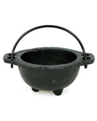 Cast Iron 3 Inch Wide Mouth Mini Cauldron Mystic Convergence Metaphysical Supplies Metaphysical Supplies, Pagan Jewelry, Witchcraft Supply, New Age Spiritual Store