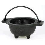 Cast Iron 3 1/2 Inch Wide Mouth Mini Cauldron at Mystic Convergence Metaphysical Supplies, Metaphysical Supplies, Pagan Jewelry, Witchcraft Supply, New Age Spiritual Store