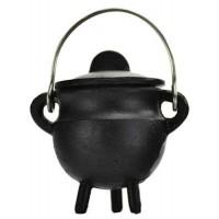 Plain Cast Iron Mini Cauldron with Lid