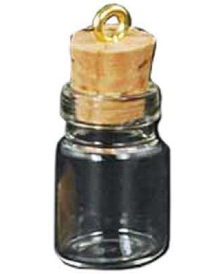 Glass Jar Oil Bottle Vial Necklace at Mystic Convergence Metaphysical Supplies, Metaphysical Supplies, Pagan Jewelry, Witchcraft Supply, New Age Spiritual Store
