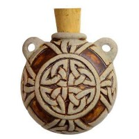 Celtic Knot Clay Oil Bottle Necklace