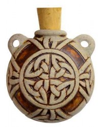 Celtic Knot Clay Oil Bottle Necklace Mystic Convergence Metaphysical Supplies Metaphysical Supplies, Pagan Jewelry, Witchcraft Supply, New Age Spiritual Store