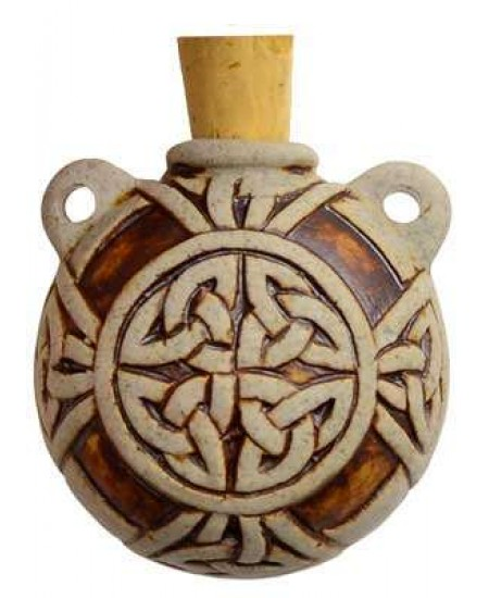 Celtic Knot Clay Oil Bottle Necklace at Mystic Convergence Metaphysical Supplies, Metaphysical Supplies, Pagan Jewelry, Witchcraft Supply, New Age Spiritual Store