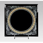 Celtic Border Black Scrying Mirror