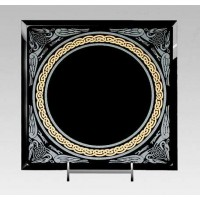 Celtic Border Black Acrylic Scrying Mirror