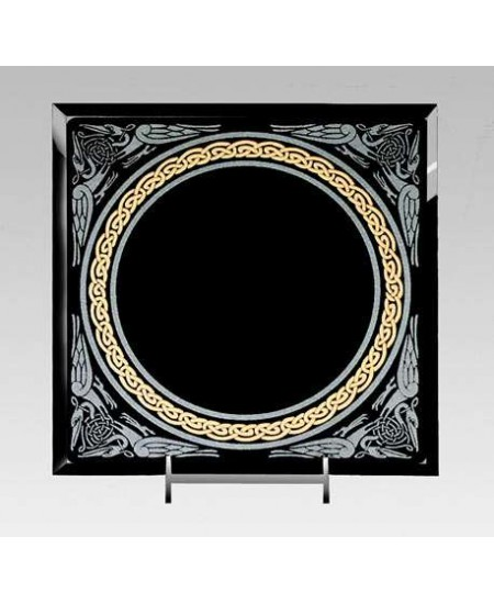 Celtic Border Black Acrylic Scrying Mirror at Mystic Convergence Metaphysical Supplies, Metaphysical Supplies, Pagan Jewelry, Witchcraft Supply, New Age Spiritual Store