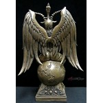 Baphomet Large Black Resin Statue at Mystic Convergence Metaphysical Supplies, Metaphysical Supplies, Pagan Jewelry, Witchcraft Supply, New Age Spiritual Store