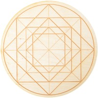 Geometric Symbol Crystal Grid in 3 Sizes