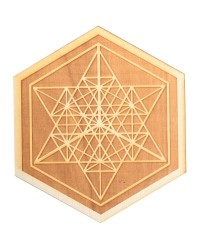 Merkaba Wood Crystal Grid in 3 Sizes