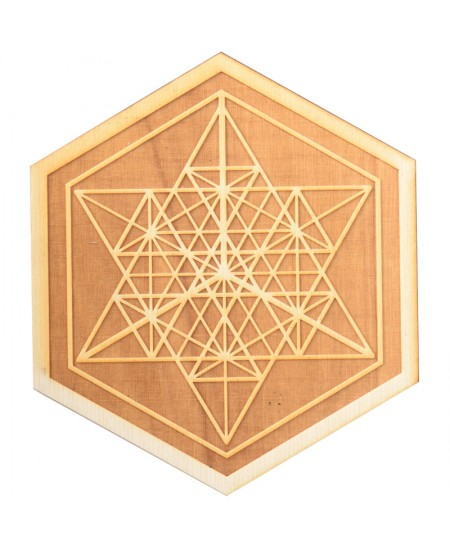 Mekaba Wood Crystal Grid in 3 Sizes at Mystic Convergence Metaphysical Supplies, Metaphysical Supplies, Pagan Jewelry, Witchcraft Supply, New Age Spiritual Store