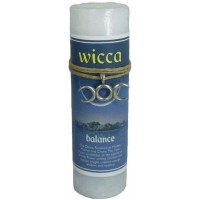Wicca Balance Spell Candle with Amulet Pendant