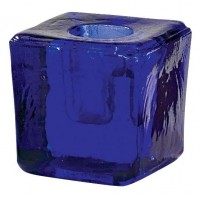 Blue Glass Mini Candle Holder