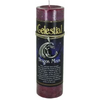 Dragon Moon Celestial Spell Candle with Amulet Pendant