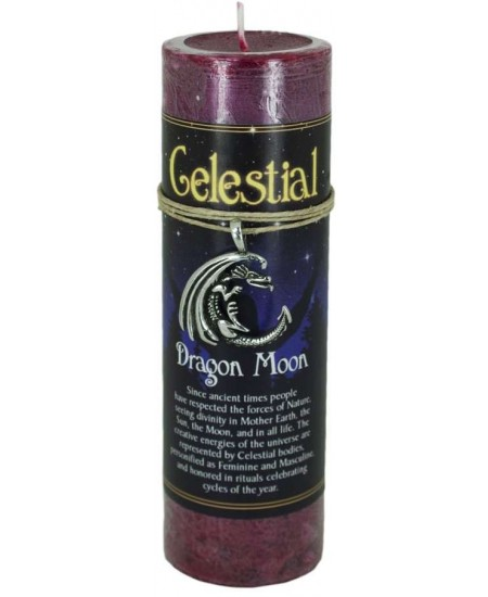 Dragon Moon Celestial Spell Candle with Amulet Pendant at Mystic Convergence Metaphysical Supplies, Metaphysical Supplies, Pagan Jewelry, Witchcraft Supply, New Age Spiritual Store