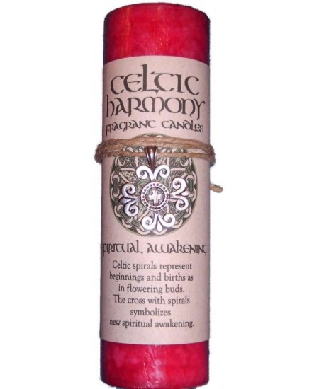 Celtic Harmony Spiritual Awakening Candle with Pendant at Mystic Convergence Metaphysical Supplies, Metaphysical Supplies, Pagan Jewelry, Witchcraft Supply, New Age Spiritual Store