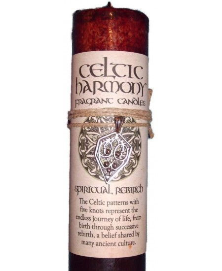 Celtic Harmony Spiritual Rebirth Candle with Pendant at Mystic Convergence Metaphysical Supplies, Metaphysical Supplies, Pagan Jewelry, Witchcraft Supply, New Age Spiritual Store