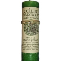 Celtic Harmony Male Female Unity Candle with Pendant