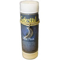 Celtic Moon Celestial Spell Candle with Amulet Pendant