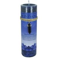 Abundance Crystal Energy Candle with Goldstone Pendant