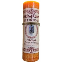 Eiwaz Self Defense Viking Rune Amulet Candle