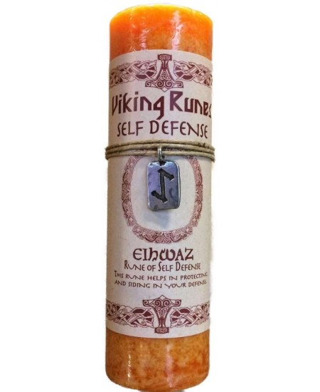 Eiwaz Self Defense Viking Rune Amulet Candle at Mystic Convergence Metaphysical Supplies, Metaphysical Supplies, Pagan Jewelry, Witchcraft Supply, New Age Spiritual Store