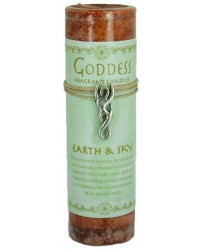 Goddess Earth and Sky Spell Candle with Amulet Pendant Mystic Convergence Metaphysical Supplies Metaphysical Supplies, Pagan Jewelry, Witchcraft Supply, New Age Spiritual Store