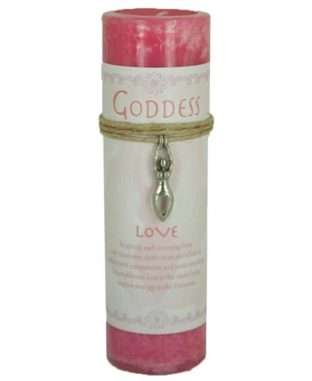 Goddess Love Spell Candle with Amulet Pendant at Mystic Convergence Metaphysical Supplies, Metaphysical Supplies, Pagan Jewelry, Witchcraft Supply, New Age Spiritual Store